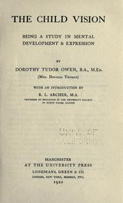 Cover of: The child vision