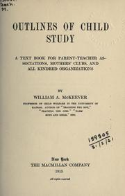 Cover of: Outlines of child study