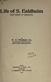 Cover of: Life of S. Ealdhelm