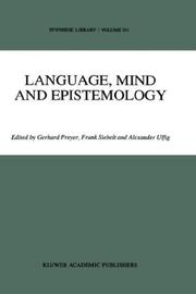 Cover of: Language, mind, and epistemology