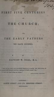 Cover of: The first five centuries of the church