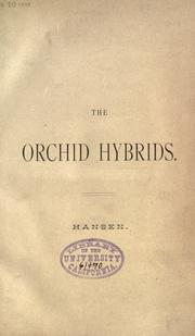 Cover of: The orchid hybrids by