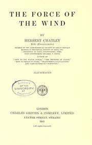 The force of the wind by Herbert Chatley