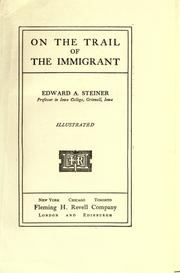 Cover of: On the trail of the immigrant