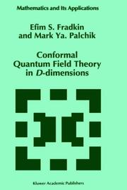 Cover of: Conformal quantum field theory in D-dimensions
