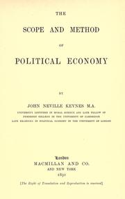 Cover of: The scope and method of political economy