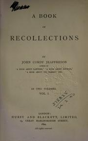 Cover of: A book or recollections