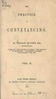 Cover of: The practice of conveyancing