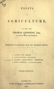 Cover of: Essays on agriculture