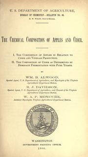 Cover of: The chemical composition of apples and cider