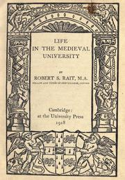 Cover of: Life in the medieval university