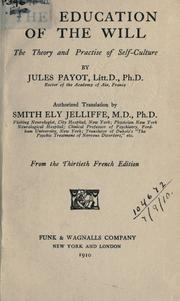 Cover of: The education of the will