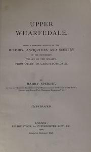 Cover of: Upper Wharfedale
