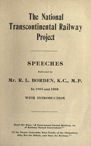 Cover of: The National Transcontinental Railway project