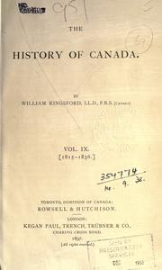 The history of Canada by William Kingsford