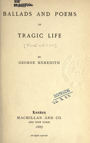 Cover of: Ballads and poems of tragic life