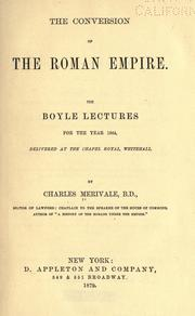 Cover of: The conversion of the Roman empire
