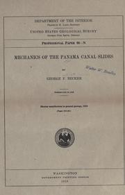 Cover of: Mechanics of the Panama Canal slides
