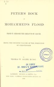 Cover of: Peter's rock in Mohammed's flood | T. W. Allies