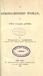 Cover of: A strong-minded woman, or, Two years after