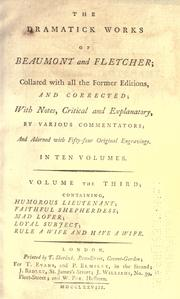 Cover of: The dramatic works of Beaumont and Fletcher