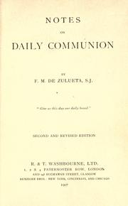 Cover of: Notes on daily Communion |