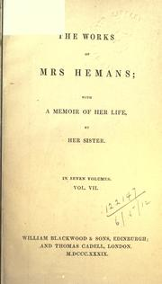 Cover of: Works | Felicia Dorothea Browne Hemans