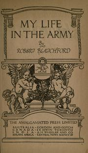 Cover of: My life in the army