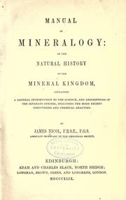 Cover of: Manual of mineralogy