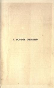 Cover of: A dominie dismissed