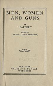 Cover of: Men, women and guns