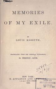 Cover of: Memories of my exile