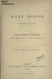 Cover of: Many moods