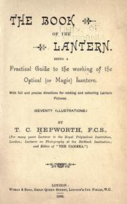 Cover of: The book of lantern | Hepworth, Thomas Cradock.