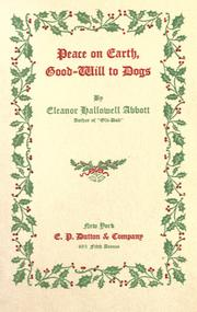 Cover of: Peace on earth, good-will to dogs