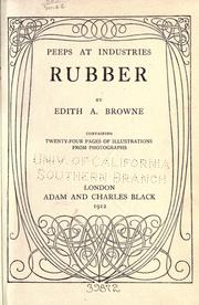 Cover of: Rubber