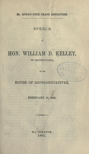 Cover of: Mr. Hurd's free trade resolution