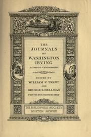 Cover of: The journals of Washington Irving (hitherto unpublished)