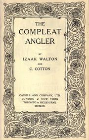 Cover of: The compleat angler | Izaak Walton