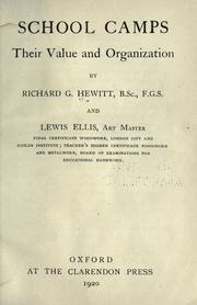 Cover of: School camps