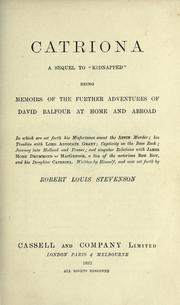 Cover of: Catriona by Robert Louis Stevenson