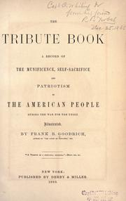 The tribute book by Frank B. Goodrich