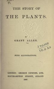 Cover of: The story of the plants