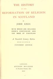 Cover of: The history of the Reformation of religion in Scotland