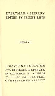 herbert spencer essays education