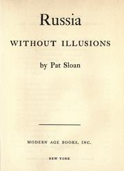 Cover of: Russia without illusions |