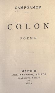 Cover of: Colón