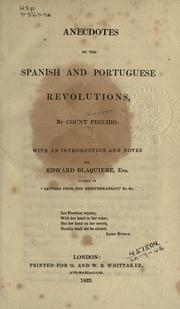 Cover of: Anecdotes of the Spanish and Portuguese revolutions
