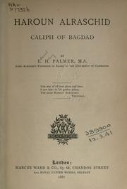 Cover of: Haroun Alraschid, caliph of Bagdad