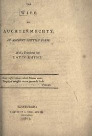 Cover of: The Wife of Auchtermuchty by